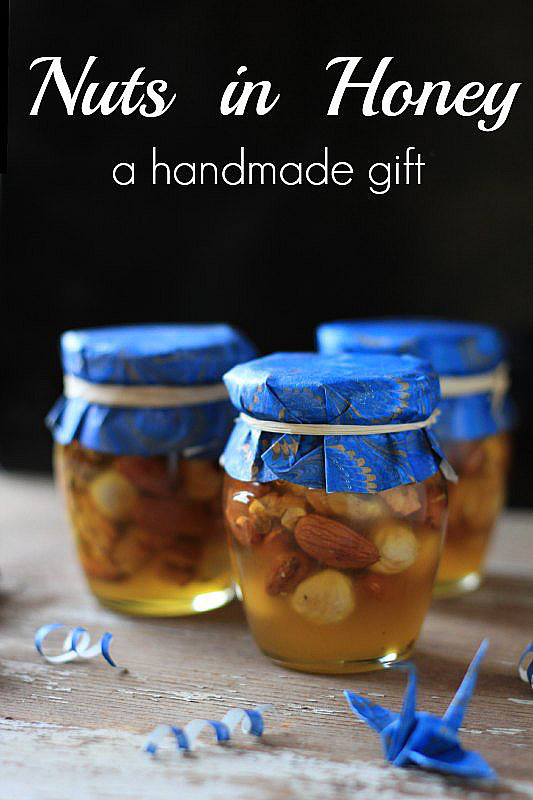 Nuts-in-Honey-a-simple-and-quick-handmade-gift. DIY Christmas Ideas - PureTraditions