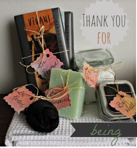 thank-you-for-being gift idea - DIY Christmas Ideas - Pure Traditions