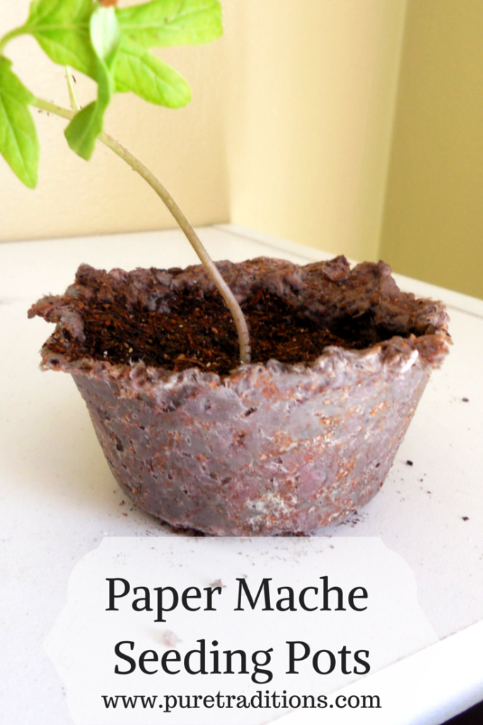 Paper Mache Seeding Pots - www.puretraditions.com