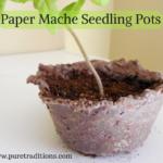 Paper Mache Seedling Pots