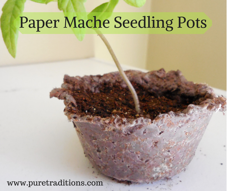 Paper Mache Seedling Pots - www.puretraditions.com
