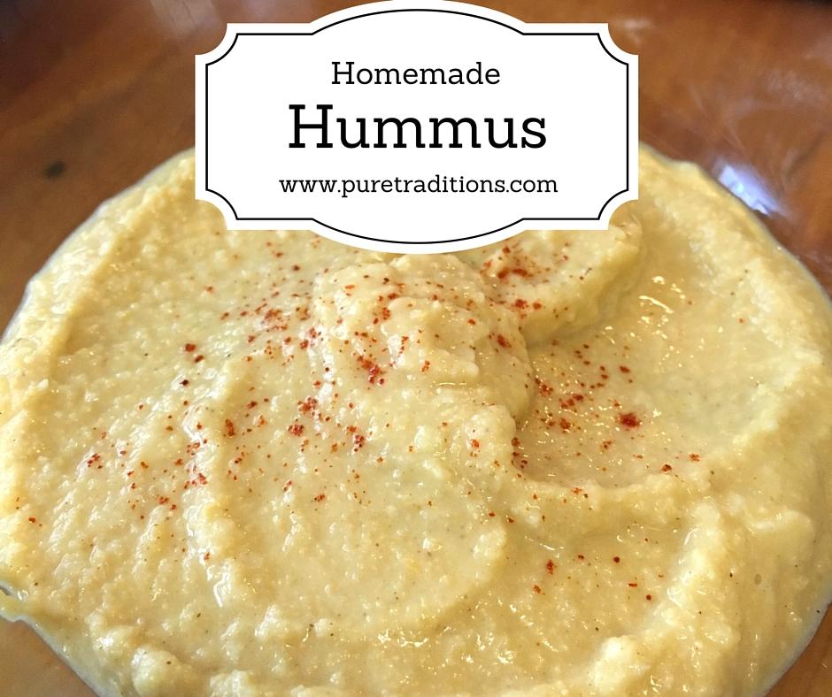 Homemade Hummus Recipe - Pure Traditions